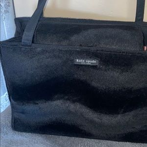 Kate Spade fur wave pattern Black designer bag